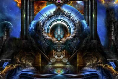 Digital Art - Power Of The Oracle by Xzendor7