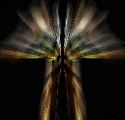Portrate Digital Art - Power Of The Twin Giraffe by Tommytechno Sweden