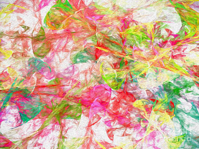 Digital Art - Power Of The Wind Abstract by Andee Design