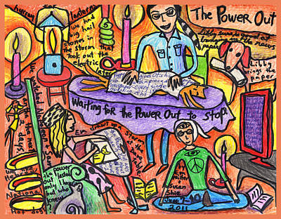 Power Out A Collaboration With Eva Miller Art Print by Susan  Shie