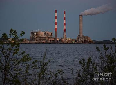 Photograph - Power Plant At Dusk by Mark McReynolds