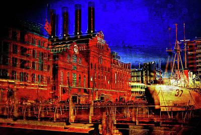 Power Plant Noir, Baltimore, Md.  Art Print by Chet Dembeck