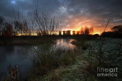 Photograph - Power Plant Sunrise 1.0 by Yhun Suarez