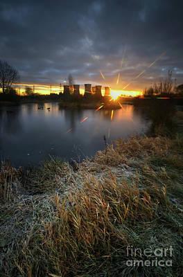 Photograph - Power Plant Sunrise 5.0 by Yhun Suarez