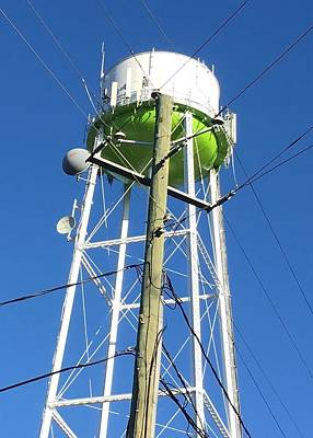 Photograph - Power Pole Meets Water Tower by Douglas Fromm