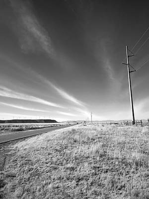 Photograph - Power Poles To Windmills by Brad Hodges