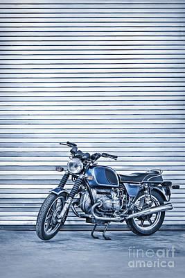 Metallic Blue Photograph - Power Ride by Evelina Kremsdorf