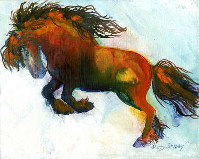 Horse Painting - Power by Sherry Shipley