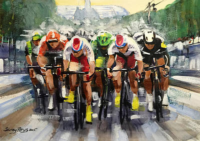 Shirley Painting - Power Sprint Stage 21 by Shirley Peters