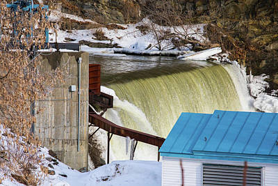 Photograph - Power Station Falls On Black River Two by JimO Ogilvie