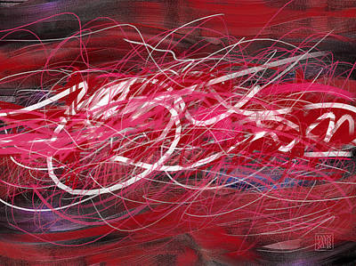Red Abstract Digital Art - Power Switch by Dan Turner