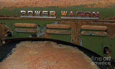 Photograph - Power Wagon-signed-#8923 by J L Woody Wooden