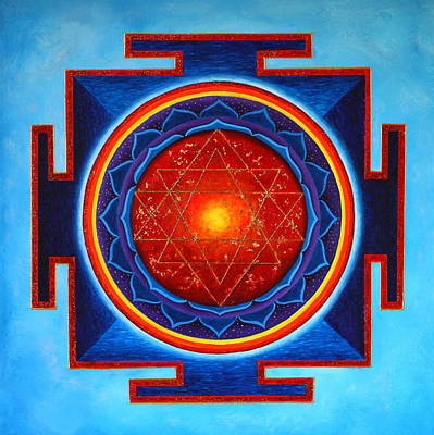 Painting - Power Yantra by Erik Grind