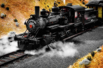 Virgina Photograph - Powerful 29 Virgina And Trukee Steam Train by Garry Gay