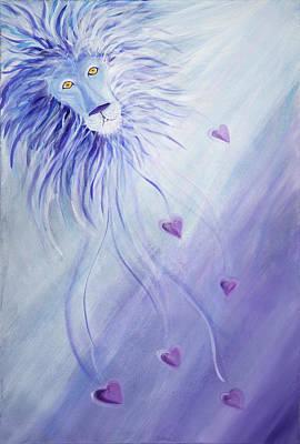 Lion Of Judah Painting - Powerful Love by Deborah Brown Maher