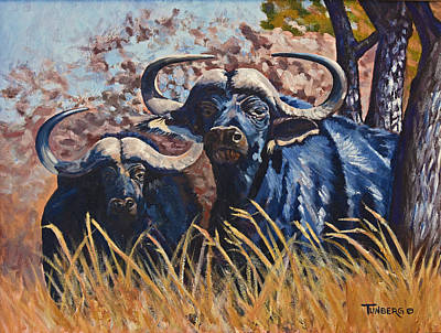 Cape Buffalo Painting - Powerful Potential by Gail Tunberg