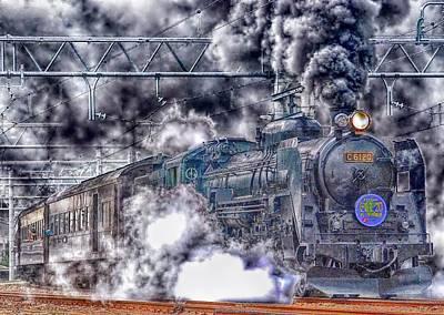 Train Mixed Media - Powerful Roar by Zin Shades