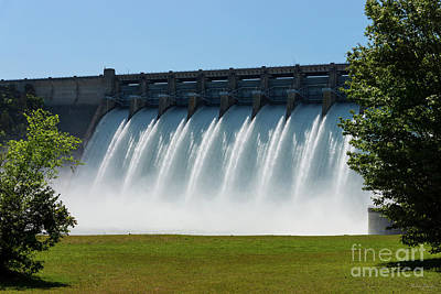 Photograph - Powerful Table Rock Dam by Jennifer White