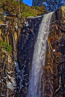 Snowy Mountain Photograph - Powerful Bridalveil  Falls by Garry Gay