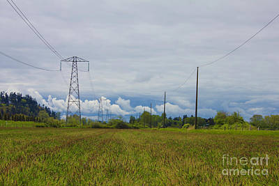 Photograph - Powerlines Landscape by Donna Munro