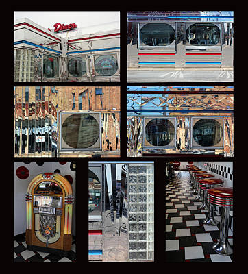 Photograph - Power's Diner Collage by Mary Bedy