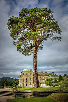 Photograph - Powerscourt Gardens Chateau by Debra and Dave Vanderlaan