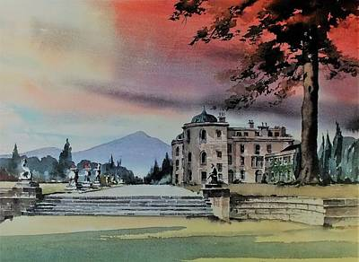 Painting - Powerscourt House Enniskerry by Val Byrne
