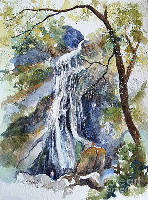 Powerscourt Waterfall Art Print by Kate Bedell