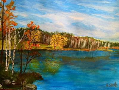 Painting - Powow River On Jewell Street by Anne Sands