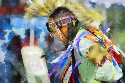 Powwow 25 Art Print by Cindy Nunn