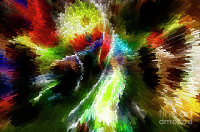 Photograph - Powwow Dancer Abstract by Vivian Christopher
