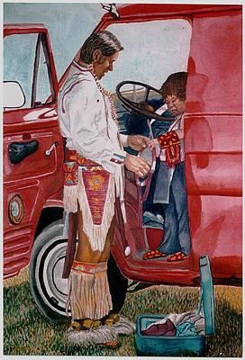 Powwow Family Art Print by Sam Vega