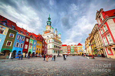 Photograph - Poznan Posen Market Square by Michal Bednarek