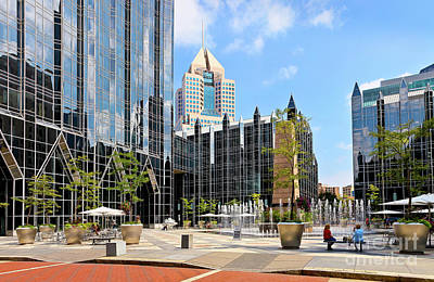 Photograph - Plaza At Ppg Place by John Waclo