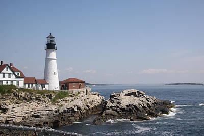 Photograph - Portland Head Lighthouse 2 by Gerald Mitchell