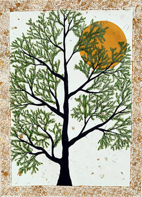 Indian Folk Art Painting - Prabanvriksh by Sumit Mehndiratta