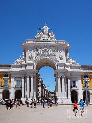 Photograph - Praca Do Comercio Lisbon 2 by Rudi Prott