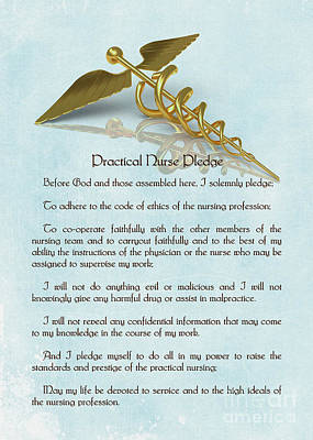 Digital Art - Practical Nurse Pledge by Olga Hamilton
