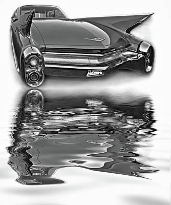 Classic Car Photograph - Practicality Be Damned - Reflection Bw by Steve Harrington