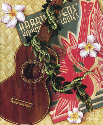 Art Medium Painting - Practice My Uke by Sandra Blazel - Printscapes