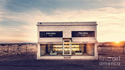 Old Store Photograph - Prada Store by Edward Fielding