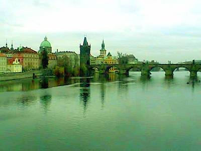 Mixed Media - Prague  1 Jgibney 2000 City Bridge 2010 by  jGibney