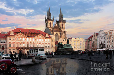 Prague After The Rain Art Print by Pat Dego