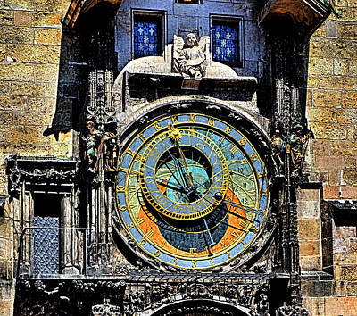 Photograph - Prague Astronomical Clock 2 by C H Apperson