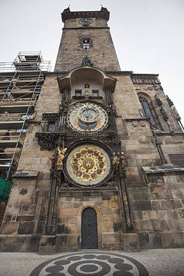 Prague Astronomical Clock Art Print by Andre Goncalves