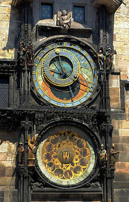 Horologue Photograph - Prague Astronomical Clock by C H Apperson