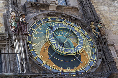 Photograph - Prague Astronomical Clock In Prague by Josef Pittner