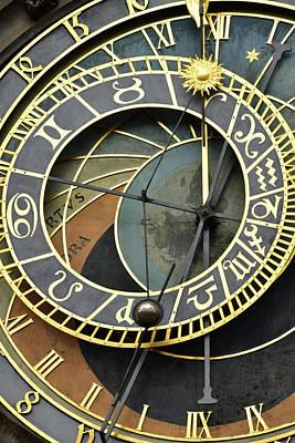 Prague Digital Art - Prague Astronomical Clock  by Mihaela Pater