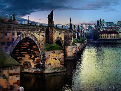 Prague At Dusk Art Print by Russ Harris