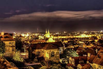 Photograph - Prague At Night by Kay Brewer